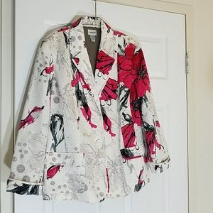 Chico's white with floral print jacket 3